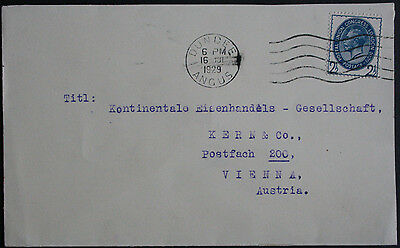 GB 1929 2 1/2d U.P.U. on Commercial Cover from Dundee, Angus to Vienna, Austria