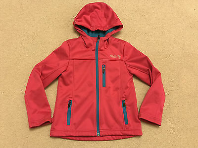 Fabulous Girls Pink Blue  Warm Hooded Softshell Jacket Coat Age 6-7-8 Yrs