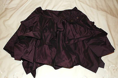 Girls M&S PURPLE sateen party puffball skirt age 11 years MUST SEE!
