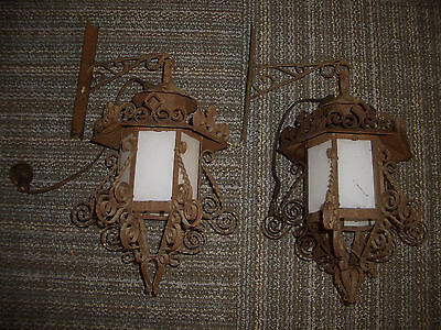 Vintage Rusty Rustic Wall Lights
