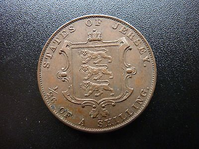 1858 Jersey 1/26 th of a Shilling High Grade Coin