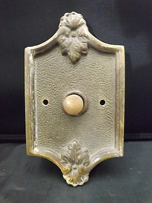 Antique solid bronze push button doorbell door bell,working condition.