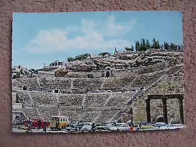 A posted card of the Roman Amphitheatre in Amman