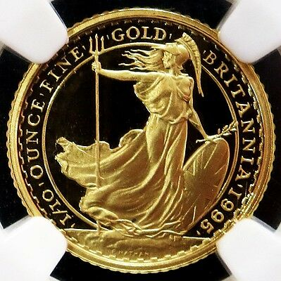 1995 Gold Great Britain 10 Pounds Ngc Proof 69 Ultra Cameo Only 1,500 Minted