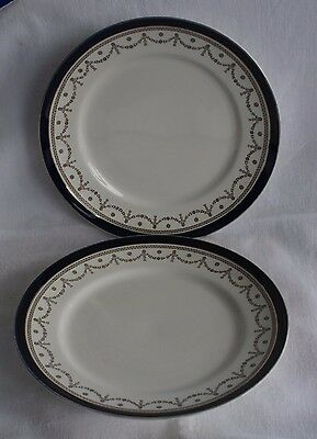 "CHINA DINNER PLATE 10"" ""Bleu de Roi"" Alfred Meakin 1950s SET OF 5"