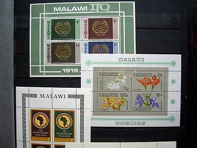 Malawi stamps 1960s/70s Mini-sheets; MNH; 2 photos