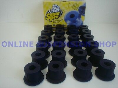 Suits Toyota Landcruiser 60 Series SUPER PRO Front & Rear Spring Bush Kit