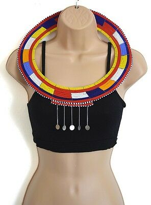 African Masai Beaded Handmade Wedding Necklace, Ethnic Unique Christmas Gifts