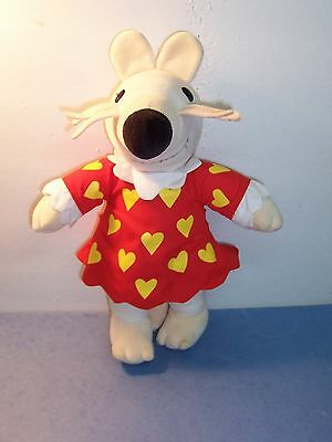 MAISY MOUSE - Lucy Cousins / Crocodile Creek - PLUSH DOLL Red Heart Dress - VGC