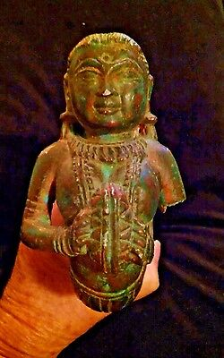 Antique Artifact Stone Carved Female Figure Color 8 1/4""