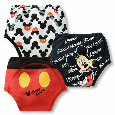 Baby Boys Nappy Pants Toddler Pee Potty Training Pants Underwear Size 2-3years