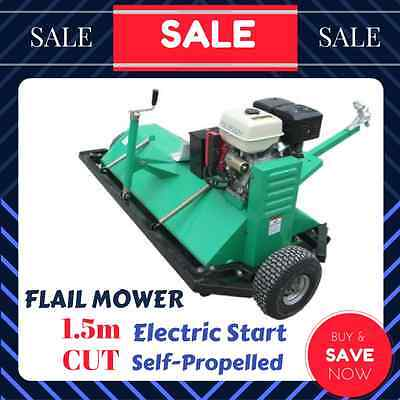 FLAIL MOWER SELF PROPELLED ELECTRIC START 15HP 1.5m TOW BEHIND ATV