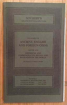 LAC SOTHEBY'S catalogue of  ANCIENT, ENGLISH AND FOREIGN COINS 1980