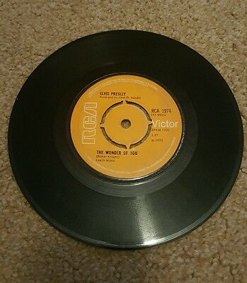 "45 r.p.m vinyl record Elvis ""The wonder of you"""