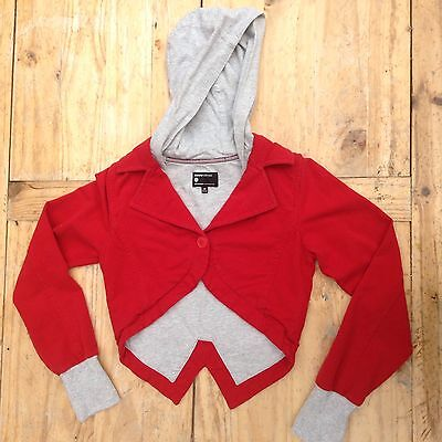 NONONSENSE Girls Red Cropped Jacket Age 14 158-164