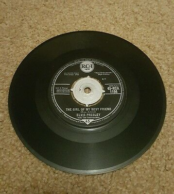 "45 r.p.m vinyl record Elvis ""The girl of my best friend"""