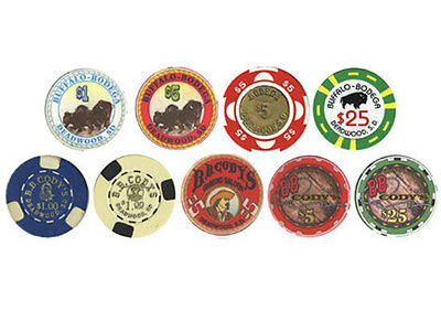 SET OF 9 Different DEADWOOD SOUTH DAKOTA CASINO COLLECTOR CHIPS Free Shipping *