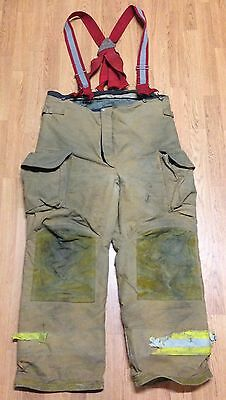 Janesville Lion Apparel Firefighter Pants Turnout Gear w/ Suspenders Size 42R