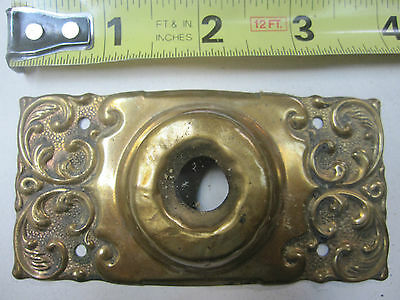 antique brass hardware ---brass doorbell   plate