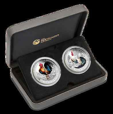 WEALTH and WISDOM LUNAR GOOD FORTUNE 2 x 1oz silver proof coins set Tuvalu 2017