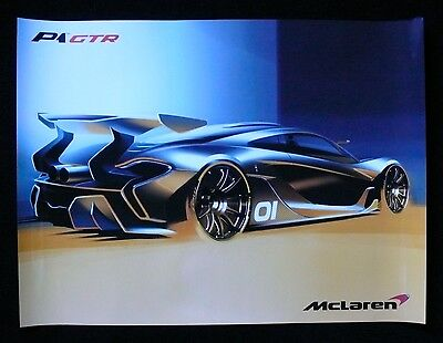 MCLAREN P1 GTR Factory Poster 650S North Amer. Unveiling Pebble Beach Concours