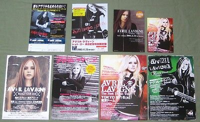 AVRIL LAVIGNE Japan PROMO flyers x 8 different $4 shipping HANDBILL mini poster
