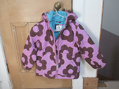 Boden anorak Jacket, 5-6y, lilac Flowery, Fleece lined, school,-Exc Condition!