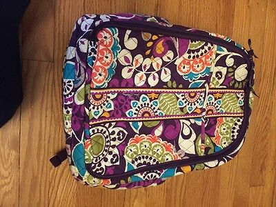 Vera Bradley Plum Crazy Retired Diaper BACKPACK BABY BAG & Changing Pad