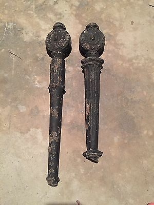 Pair Antique Solid Cast Iron Legs Stand Base Architectural Salvage Repurpose VTG