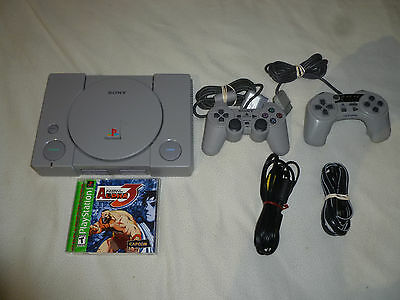 Playstation 1 Ps1 System & Game Lot Street Fighter Alpha 3 Sony Capcom Complete
