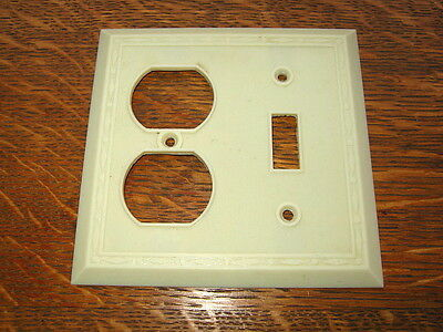 Vintage Ivory Bakelite Switch & Outlet Cover