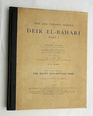 1907 Egyptian archeology book DEIR EL-BAHARI PART I by Edouard Naville