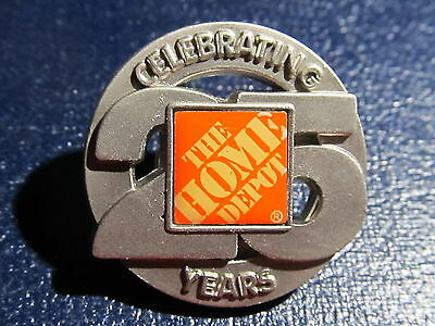 New Home Depot 25 years Lapel Pin