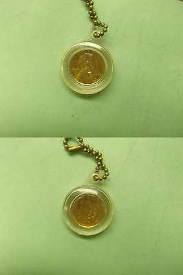 US Lincoln Penny in keychain