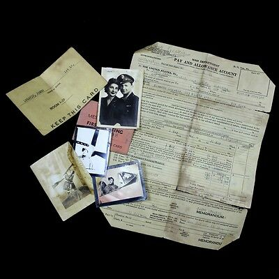 Photographs And Paper Lot - 363Rd Figther Group 381St Squadron D-Day P-51 Pilot