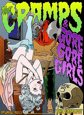 Original 2004 Cramps Gore Gore Girls Santa Cruz Concert Poster Chuck Sperry Jc18