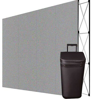 10' Pop Up Trade Show Display Booth Floor Backdrop+Case - STRAIGHT, GRAY
