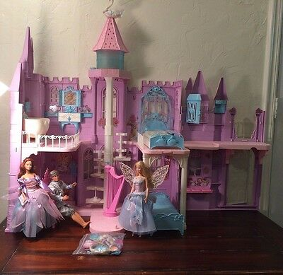 Barbie Swan Lake Princess Castle Playset W/ Dolls - Plays Music And Lights Up