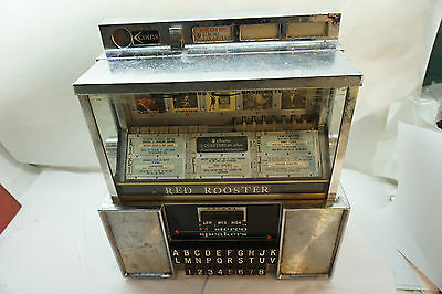 Vintage Diner Jukebox Seeburg Consolette Wall Table 10 Cents 50 Cents Lp Albums