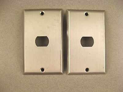 Lot Of Two - Vintage Steel 1 Hole Despard Switch Plate Covers