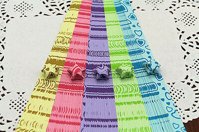 520 pieces - 5 color comb with heart pattern ORIGAMI LUCKY STAR PAPER- limit