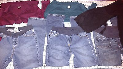 Maternity clothing Jeans & Tops 6 piece lot