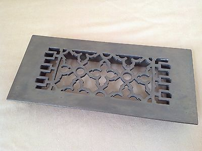 Reggio Register Co Vintage Antique Brass Scroll Floor Vent Cover Wall Grate 612