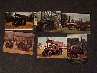 Collection Job Lot Postcards Traction Engines x 6