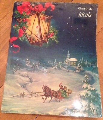 Vintage Christmas Issue Ideals 1952 paperback Stories Songs
