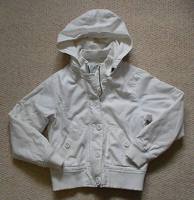 GAP Thick White Padded Jacket with Detachable Hood - Age 10-11 Years