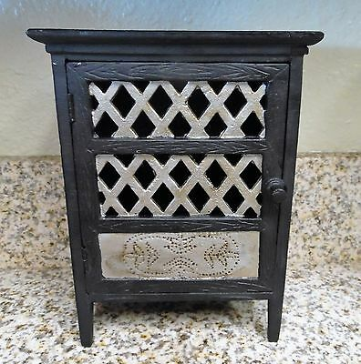 HTF RARE HEAVY Miniature Cast Iron Pantry Shelf Cabinet Baking Pie Rolling Pin