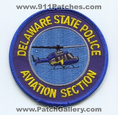 Delaware State Police Aviation Section Patch Delaware DE