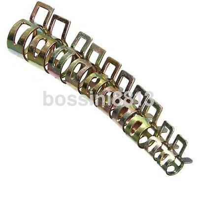 10x 6-15mm Vacuum Spring Fuel Oil Water Hose Clip Pipe Tube Band Clamp Metal UK