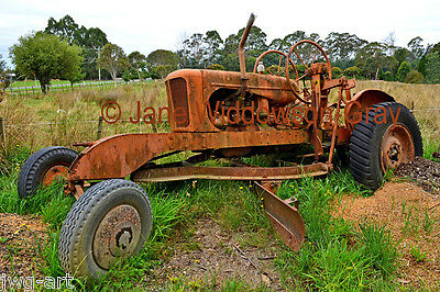 ANTIQUE FARM MACHINERY; VINTAGE TRACTOR, TASMANIA 8x12 Giclée Fine Art Print